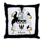 Moon Family Crest Throw Pillow