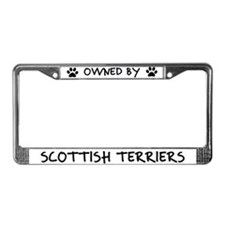 Owned by Scottish Terriers License Plate Frame
