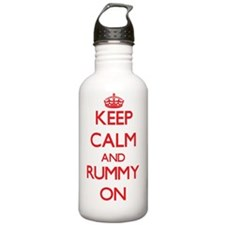 Keep Calm and Rummy ON Water Bottle