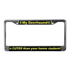 Honor Student Deerhound License Plate Frame