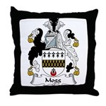Mogg Family Crest Throw Pillow