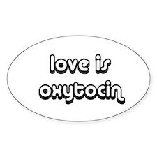 Oxytocin Oval Decal