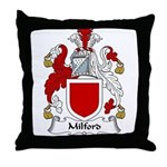 Milford Family Crest Throw Pillow