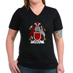 Milford Family Crest Women's V-Neck Dark T-Shirt