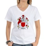 Milford Family Crest Women's V-Neck T-Shirt