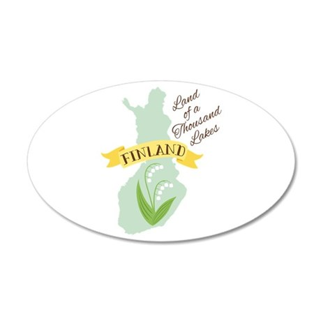Finland Thousand Lakes Land Wall Decal