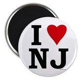 "I LOVE NJ 2.25"" Magnet (100 pack)"