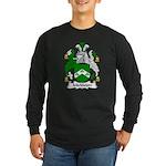 Mickleton Family Crest Long Sleeve Dark T-Shirt