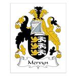 Mervyn Family Crest Small Poster