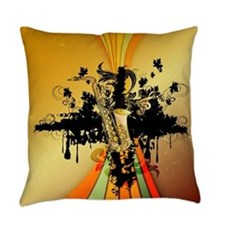 Music, saxophone Everyday Pillow