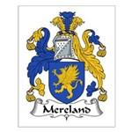 Mereland Family Crest Small Poster