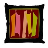 Dancing Stripes #1 Throw Pillow