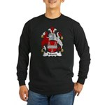Meares Family Crest Long Sleeve Dark T-Shirt