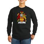 May Family Crest Long Sleeve Dark T-Shirt