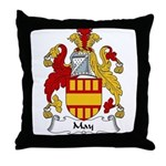 May Family Crest Throw Pillow