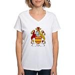 May Family Crest Women's V-Neck T-Shirt
