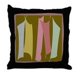 Dancing Stripes #2 Throw Pillow