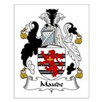 Maude Family Crest Small Poster