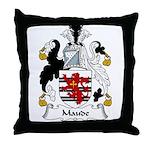 Maude Family Crest Throw Pillow