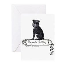 Brussels Griffon Banner Greeting Cards (Pk of 20)