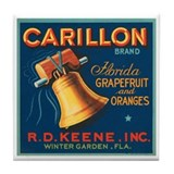 Carillon Fruit Label Tile Coaster