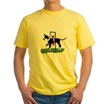 A Great Dane Mantle Agility e Yellow T-Shirt