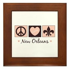 Peace Love New Orleans Framed Tile