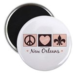 Peace Love New Orleans Magnet