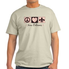 Peace Love New Orleans Light T-Shirt