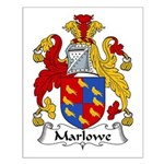 Marlowe Family Crest Small Poster