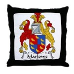Marlowe Family Crest Throw Pillow