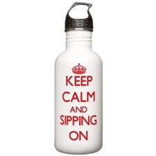 Keep Calm and Sipping Water Bottle