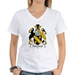 Marchand Family Crest Women's V-Neck T-Shirt