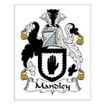 Mandley Family Crest Small Poster