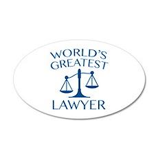 World's Greatest Lawyer 38.5 x 24.5 Oval Wall Peel