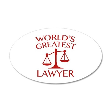 World's Greatest Lawyer 22x14 Oval Wall Peel