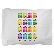 Uke Chord Cheat Tee Colorful Pillow Sham