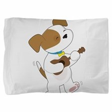 Cute Puppy Ukulele Pillow Sham