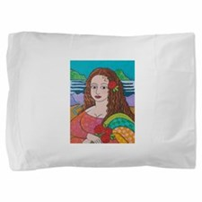 manic lisa.png Pillow Sham