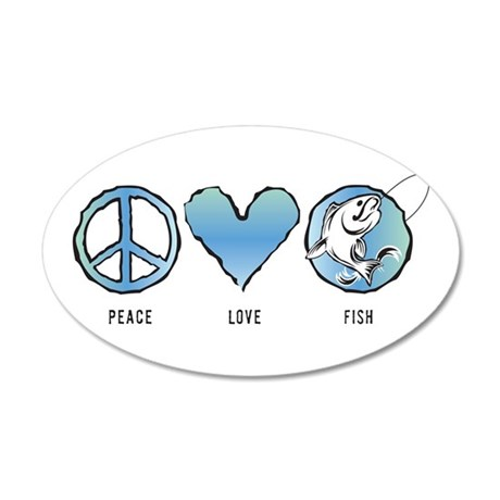 PeaceLoveFish Wall Decal
