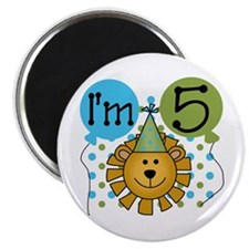 Lion 5th Birthday Magnet