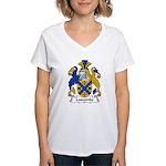 Luscombe Family Crest Women's V-Neck T-Shirt