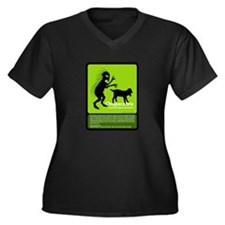 Chupacabra Women's Plus Size V-Neck Dark T-Shirt