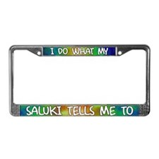 Do what Saluki License Plate Frame