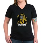 Louth Family Crest Women's V-Neck Dark T-Shirt
