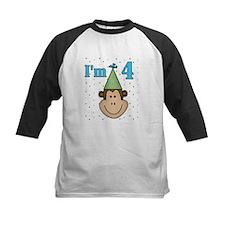 Monkey 4th Birthday Tee