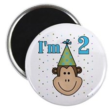 Monkey 2nd Birthday Magnet