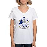 Lexington Family Crest Women's V-Neck T-Shirt