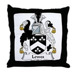 Lewes Family Crest Throw Pillow