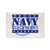 Proud Navy Girlfriend Rectangle Magnet